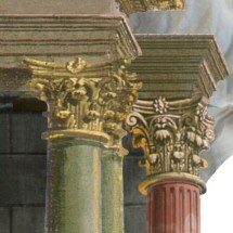 Set design for L'incoronazione di Poppea, by Gilbert Blin, Académie Desprez